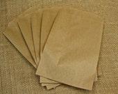Kraft Favor Bags - Party Favor - Candy Buffet Bags - 100 - 5 x 7 1/2 Inch