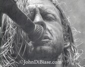 Drawing Print of Jon Foreman of Switchfoot / Fiction Family