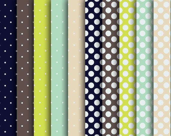 60% OFF SALE Digital Papers  Scrapbooking  Green polka dots  Scrapbooks, Bloggers, Girls, Women, Teens    Polka Dots