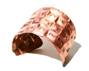 Copper Cuff with Geometric Pattern
