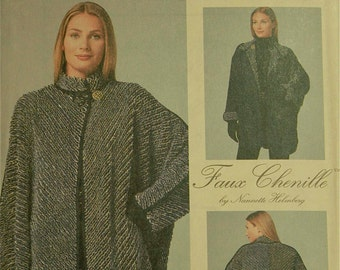 """Faux Chenelle Reversible Jacket by Nannette Helmberg -1990's - McCall's Pattern 8528  Uncut Size  6 to 24   Bust 30.5- 46"""""""