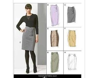 Skirt Set - 2010's -  Vogue  Pattern 8672 Uncut  Sizes 6-8-10-12