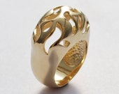 Statement Gold plated Ring unique design, impressive ring, up to size 9 ,Statement Ring.
