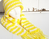 Lemon Chiffon Hat and Scarf Set