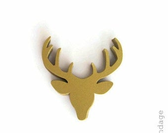 Stag Head Punches, Golden Deer Die Cuts, Deer Head Punches, Gold Deer Antlers, Paper Deer Heads, Woodland Punches, Deer Paper Punches, Deer