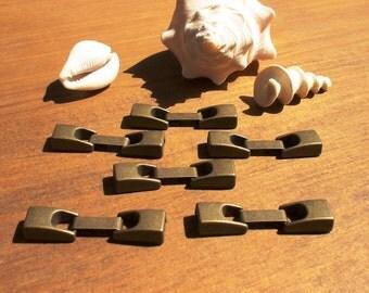 6pcs 6mm bronze clasp, bracelet clasps, jewelry clasps, leather cord clasp, bracelet clasp, leather clasp, jewelry clasp, jewelry findings