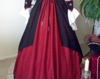 Pirate Renaisssance Skirt Set Plus Sizes And Other Colors Available