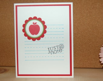 Just a Note Card Set of 8