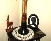 Art Deco Lamp Modernist Steampunk Edison Brass Tesla Wood Old Style Bulb Steam Punk Art Nouveau