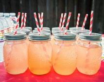 110 Pewter Daisy Cut Mason Jar Lids for Straws