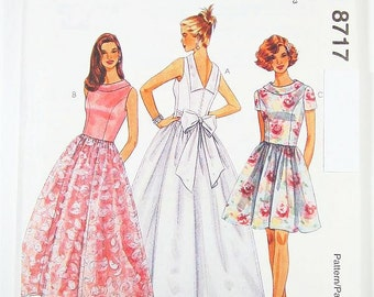 Pick Your Size - McCalls Dress Pattern 8717 - Misses' One-Piece Dress in Three Lengths - McCall's Patterns