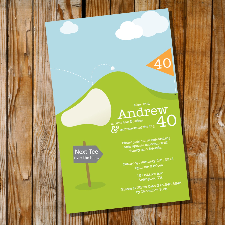 Par Tee Golf Birthday Invitation th th th th