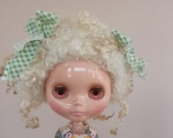 OOAK Blythe wool needlefelted wig