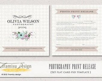INSTANT DOWNLOAD- Photography Print Release - 5x5 Template-sku2-2