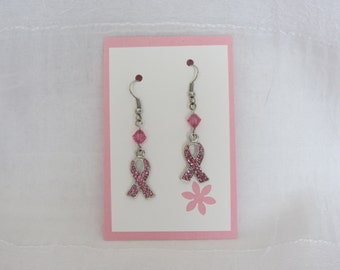 SALE! Breast Cancer Supporter Earrings