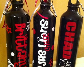 Personalized Team Sports Cheer Water Bottle