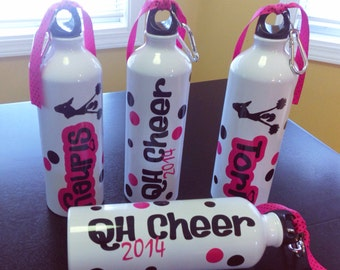 Personalized Water Bottle Cheer