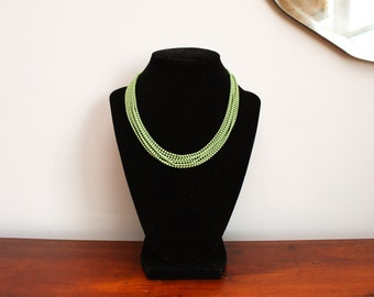 1930s Art Deco Enamel Ball Chain Necklace