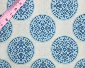 Tilda Inca Blue Fabric  / Gardenparty Collection - Half Metre / 0.54yards