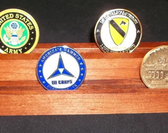 Cherry Challenge Coin Display  Holder for 10 - 14  Coins