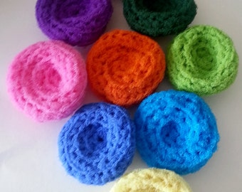 Set of 3 Kitchen Dish Crocheted Scrubbies / Pot Scrubbers for 4.00