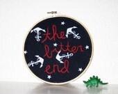 Silversun Sailor Embroidery Hoop Art