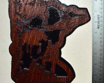 Minnesota State Scroll Saw Wall Plaque