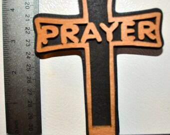 Prayer Cross Scroll Saw Wall Plaque