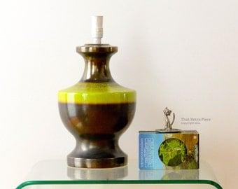 Vintage ceramic lamp base / made by Ellis Pottery, Australia