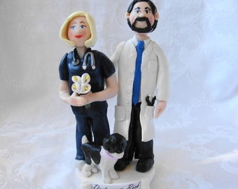 Custom Wedding Cake Topper, Polymer Clay Cake Topper, Figurine. A Hand Crafted Art Sculpture.