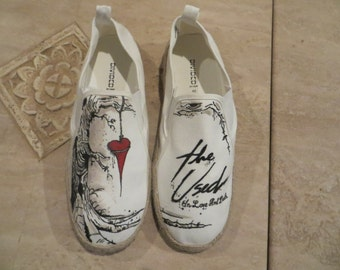 Hand Painted Shoes - The Used