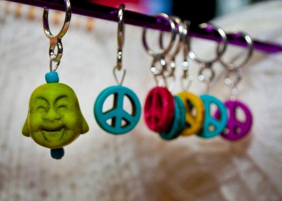 Peaceful Buddha Stitch Markers (Set of 7)