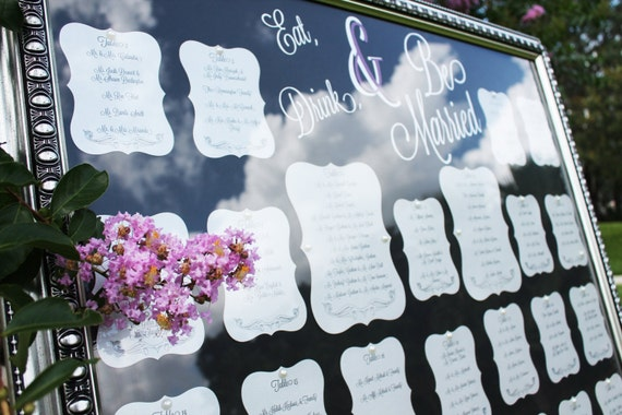 Items Similar To Elegant Table Seating Chart For Wedding