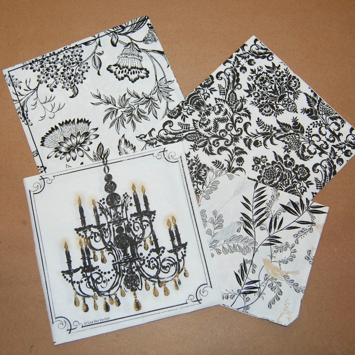 craft ideas with paper napkins decoupage black and white set 4 paper napkins for decoupage 6335