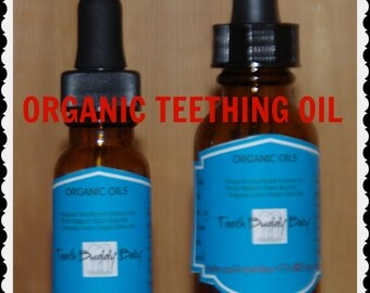 Organic Vegan Teething oil 1 oz. ( %100 Organic + low shipping)
