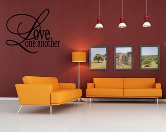 Wall Quotes Love one another Decal Quote Sticker Vinyl  Sayings Vector Removable Wall Sticker Wall Decal Quote (L0064)