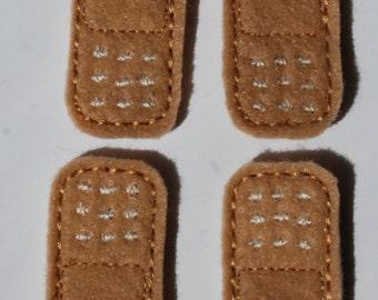 Set of 4 Band-Aid Feltie Felt Embellishments