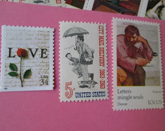 Rock Solid 10 Cent Mineral Stamps Unused By