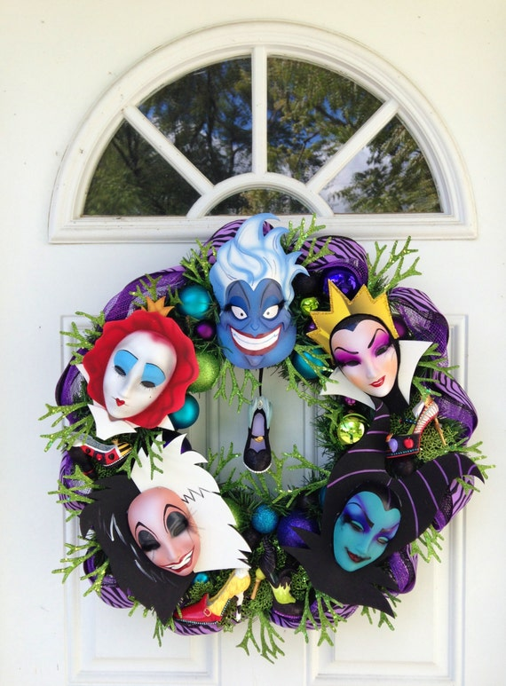 Villain wreath custom order ariel for Ariel christmas decoration