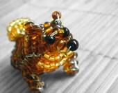 Pomeranian Beaded Dog Sculpture