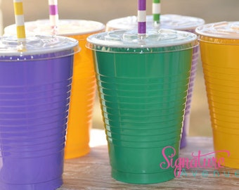 Mardi Gras Party Cups-Set of 12