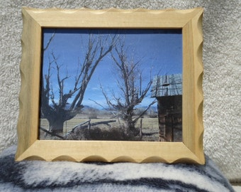 8x10 Rustic Reclaimed barn wood picture frame. Made from reclaimed wood from the old Mountain cabin (as pictured)