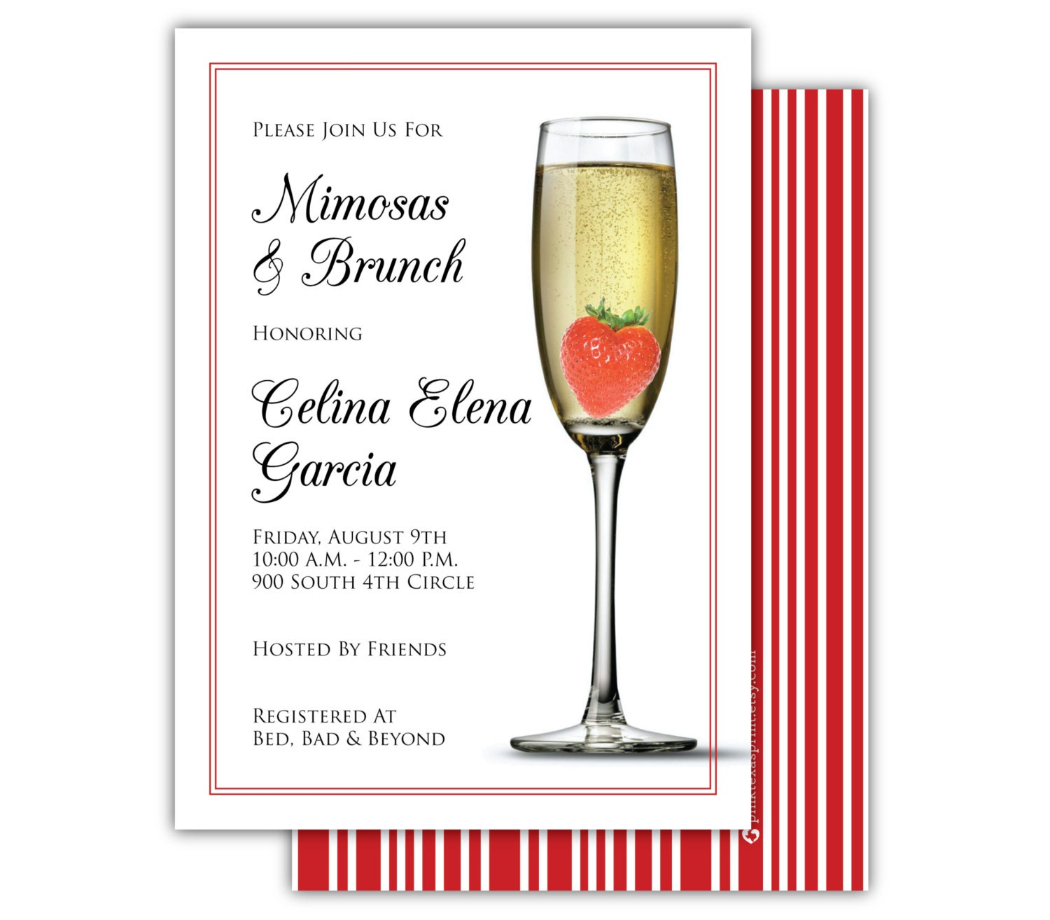 Mimosa Brunch Invitations with adorable invitations example