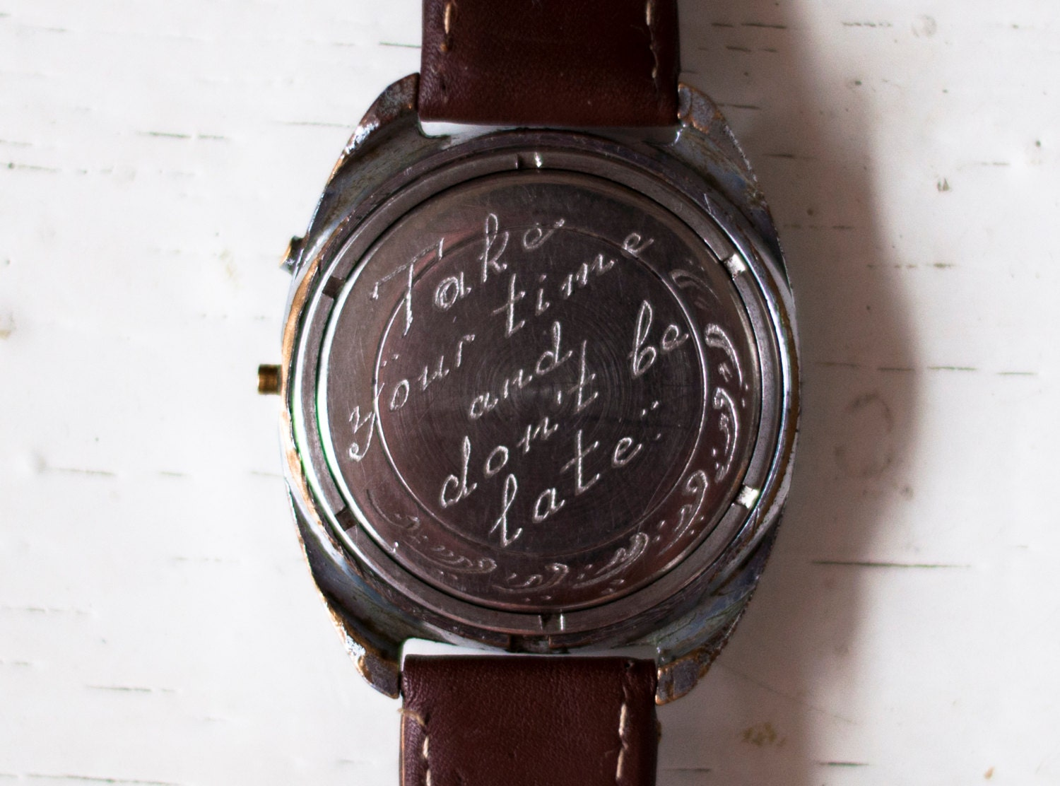 engraving on watch engraved mens watch back case of any On watches engraved