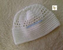 Kids to Men Crochet Beanie Hat, Hat, Kufi Hat, Crochet Kufi Hat, Crochet Kids Kufi, Youth Kufi Hat