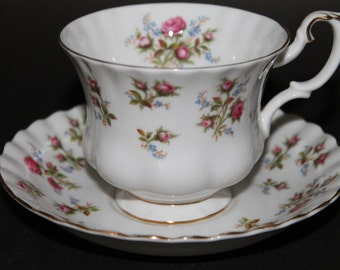 "ROYAL ALBERT Bone China Teacup and Saucer Set ""Winsome""  2 Sets Available"