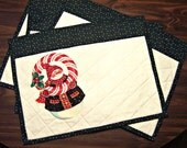 Quilted Snowman Place Mats