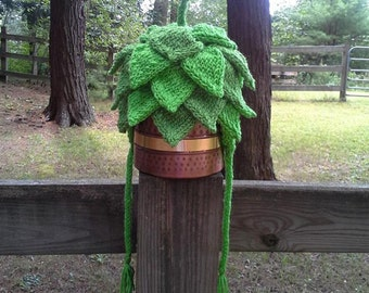 Hand Knit Custom 5-Layer Hop Hat with Ear Flaps