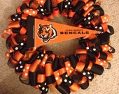 Cincinnati Bengals Football Ribbon Wreath