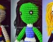 Finished Doll : Wonder Woman, She Hulk, Invisible blue